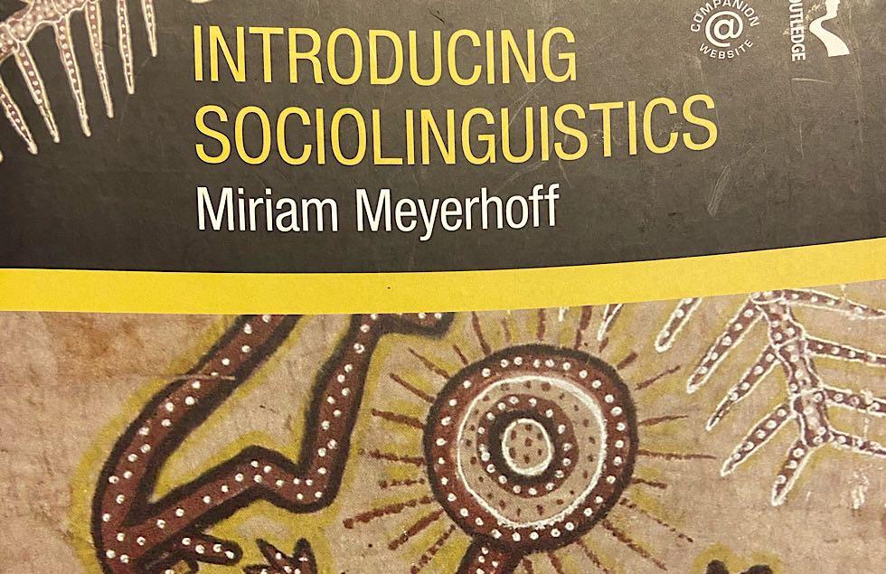 A sociolinguistics textbook