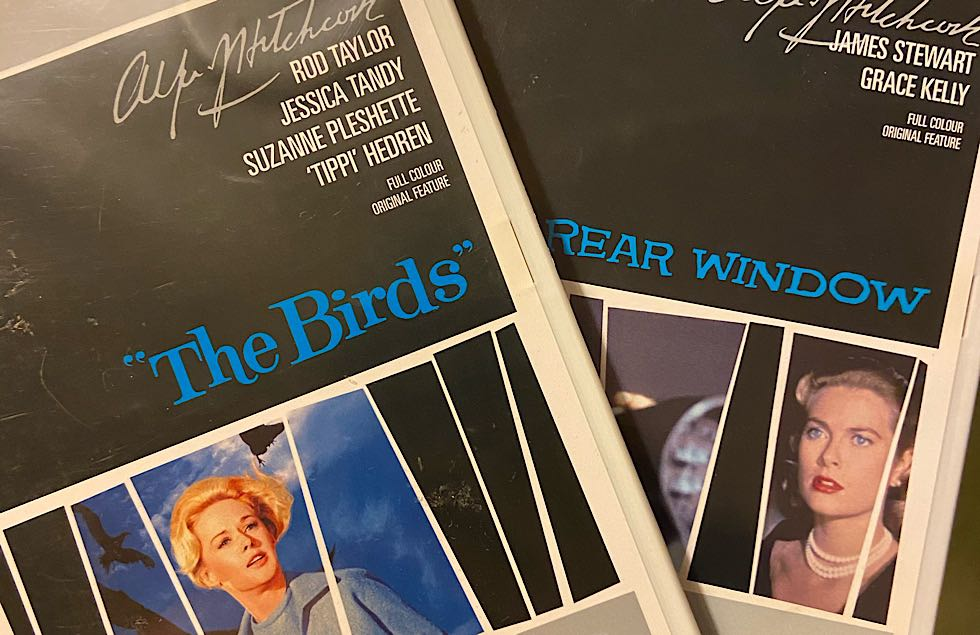 The Birds and Rear Window DVD covers